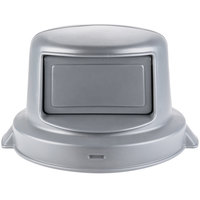 Continental 4456GY Huskee 44 Gallon Gray Round Dome Top Trash Can Lid