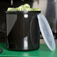 Carlisle 034203 Black 2.7 Qt. Poly-Tuf Round Crock with Lid