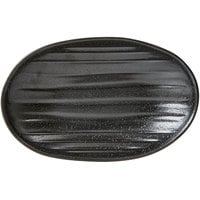 Elite Global Solutions JW7309 Zen 9 1/8 inch x 5 3/4 inch Black Deep Oval Plate - 6/Case