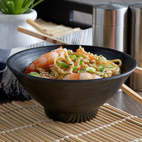 Elite Global Solutions JW1005 Zen 14 oz. Black Bowl   - 6/Case