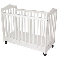 L.A. Baby CW-35-W 37 inch x 19 1/2 inch x 26 inch White Original Bedside Manor Cradle