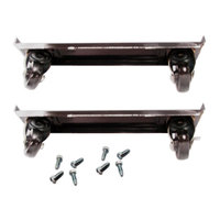True 872009 4 inch Casters with Frames - 4/Set