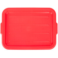 Vollrath 1522-C02 Traex® Color-Mate Red Recessed Food Storage Box Lid - 20 inch x 15 inch