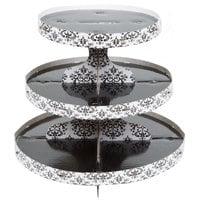 Wilton 1512-0703 3-Tier Damask Disposable Cupcake Stand