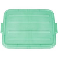Vollrath 1500-C19 Traex® Color-Mate Green Raised Snap-On Food Storage Box Lid - 20 inch x 15 inch x 2 1/2 inch