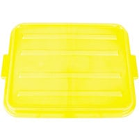 Vollrath 1500-C08 Traex® Color-Mate Yellow Raised Snap-On Food Storage Box Lid - 20 inch x 15 inch x 2 1/2 inch