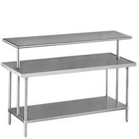 Advance Tabco PT-10-84 Smart Fabrication 10 inch x 84 inch Middle Mount Stainless Steel Shelf
