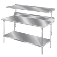 Advance Tabco PT-12S-108 Smart Fabrication 12 inch x 108 inch Splash Mount Stainless Steel Shelf