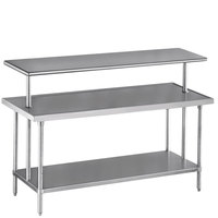 Advance Tabco PT-12-132 Smart Fabrication 12 inch x 132 inch Middle Mount Stainless Steel Shelf