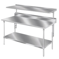 Advance Tabco PT-12S-132 Smart Fabrication 12 inch x 132 inch Splash Mount Stainless Steel Shelf