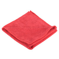 Knuckle Buster MFMP16RD 16 inch x 16 inch Red Microfiber Cleaning Cloth - 12/Pack