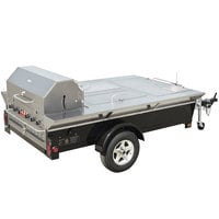 Crown Verity TG-4 69 inch Tailgate Grill with Beverage Compartments and Sink