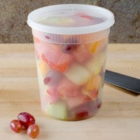 Pactiv/Newspring YSD2532 32 oz. Translucent Round Deli Container Combo Pack - 240/Case
