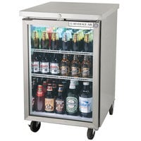 Beverage-Air BB24HC-1-FG-S 24 inch Stainless Steel Food Rated Glass Door Back Bar Cooler