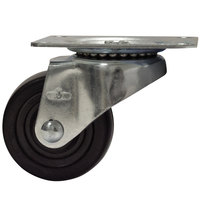 Advance Tabco RA-50 3 inch Bun Pan Dolly Swivel Plate Caster