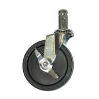 Advance Tabco RA-65 5 inch Heavy-Duty 5 inch Swivel Stem Caster With Brake