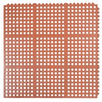 Cactus Mat 2523-R VIP Prima 3' x 3' Red Connectable Grease-Resistant Anti-Fatigue Floor Mat - 1/2 inch Thick
