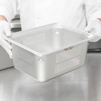 Vollrath 90263 Super Pan 3® 1/2 Size 6 inch Deep Anti-Jam Perforated Stainless Steel Steam Table / Hotel Pan - 22 Gauge