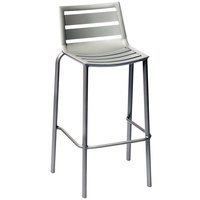 BFM Seating DV550TS South Beach Outdoor / Indoor Stackable Aluminum Bar Height Chair