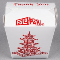 Fold-Pak 16MWPAGODM 16 oz. Pagoda Chinese / Asian Microwavable Paper Take-Out Container - 50/Pack