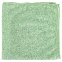 Unger MB400 SmartColor MicroWipe 16 inch x 16 inch Green Medium-Duty Microfiber Cleaning Cloth   - 10/Pack