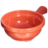 Carlisle 700652 Sunset Orange 8 oz. Handled Soup Bowl - 24/Case