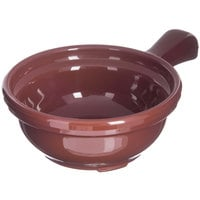 Carlisle 700628 Lenox Brown 8 oz. Handled Soup Bowl - 24/Case