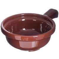 Carlisle 700828 Lenox Brown 12 oz. Handled Soup Bowl - 24/Case