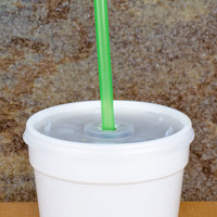 10 inch Green Unwrapped Straw - 500/Pack