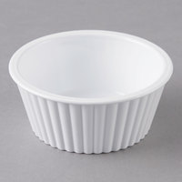 Carlisle 084502 White 4.5 oz. Fluted Plastic Ramekin - 48/Case