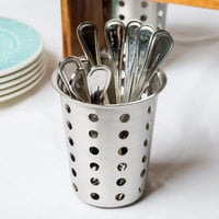 Vollrath 99710 Perforated Stainless Steel Flatware Cylinder