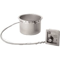 Wells HW-106D 11 Qt. Round Drop-In Soup Well with Drain - Top Mount, 120V