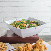 Carlisle 3331402 Rave Displayware 4.5 Qt. White Melamine Salad Bowl - 6/Case