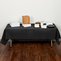 Creative Converting 710126B 54 inch x 108 inch Black Velvet Tissue / Poly Table Cover - 24/Case