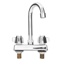 Regency Deck Mount Faucet with 4 inch Centers and 8 inch Gooseneck Swing Spout