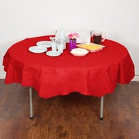 Creative Converting 923548 82 inch Classic Red OctyRound Tissue / Poly Table Cover - 12/Case