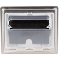 Vollrath 6525-13 Stainless Steel In-Counter Fullfold Napkin Dispenser - Clear