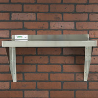Regency 16 Gauge Stainless Steel 18 inch x 24 inch Heavy Duty Wall Shelf