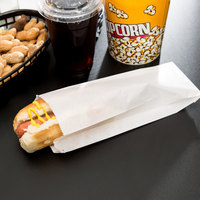 Carnival King 3 1/2 inch x 1 1/2 inch x 9 inch Plain Paper Hot Dog Bag   - 1000/Case
