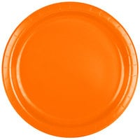 Creative Converting 47191B 9 inch Sunkissed Orange Paper Plate - 240/Case
