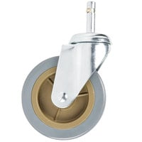 Choice 4 inch Swivel Caster for Bussing and Utility Carts - No Brake