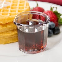 2 oz. Clear SAN Plastic Creamer / Syrup Cup - 24/Pack