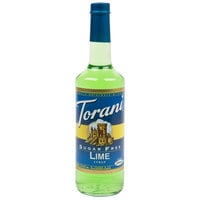 Torani 750 mL Sugar Free Lime Flavoring / Fruit Syrup