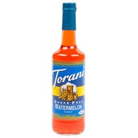 Torani 750 mL Sugar Free Watermelon Flavoring / Fruit Syrup