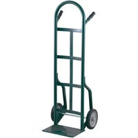 Harper 40T16 Continuous Dual Pin Handle 800 lb. Steel Hand Truck with 10 inch x 3 1/2 inch Pneumatic Wheels