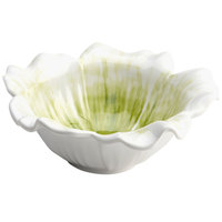 Elite Global Solutions M125FP Tropicana Design Design Green 2.75 Qt. Round Flower Melamine Bowl