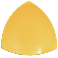 Elite Global Solutions D11T Rio Yellow 10 1/4 inch Melamine Triangle Plate - 6/Case