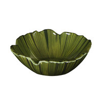 Elite Global Solutions DB712PL Tropicana Design Green 26 oz. Palm Leaf Melamine Bowl - 6/Case