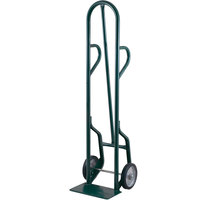 Harper 34T85 Dual Loop Handle 800 lb. Tall Steel Hand Truck with 8 inch x 2 inch Solid Rubber Wheels