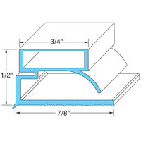 All Points 74-1105 Magnetic Door Gasket Strip - 96 inch x 7/8 inch x 1/2 inch